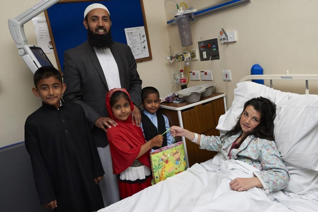 Local mosque brings joy to patients at Heartlands
