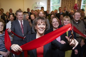 Esther Rantzen opening Cedarwood Unit at Good Hope Hostipal, Ribbon Cutting