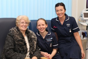 AEC staff with patient Mary Helen