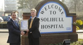 Hospital wastes no time in achieving environmental award
