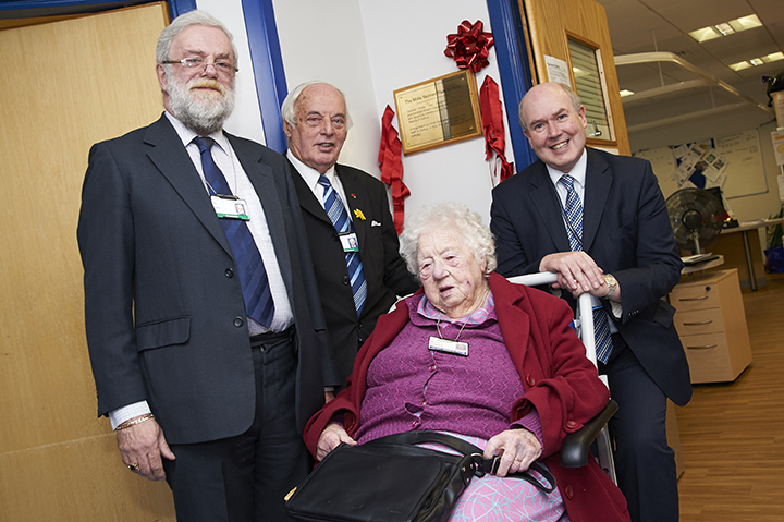 100-year-old hospital stalwart cuts ribbon on hub named in her honour