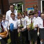 School children go back to nature with hospital garden visit