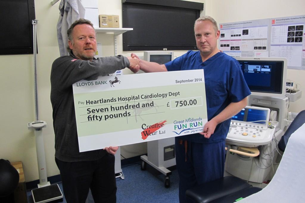 Company donates fun run merchandise profits to heart unit