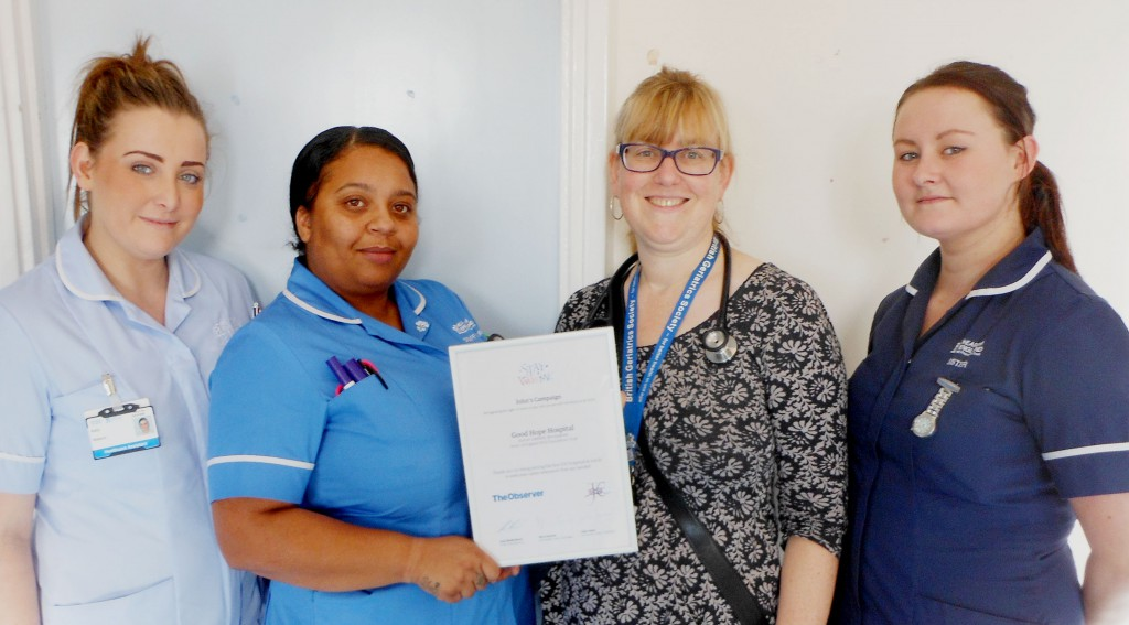 Elderly care team's delight at recognition for being carer friendly