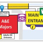 Heartlands Hospital's Children's A&E entrance has moved